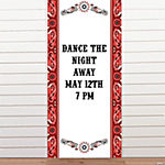 Personalized Red Wild West Door Banner