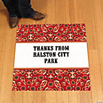 Personalized Red Wild West Floor Cling