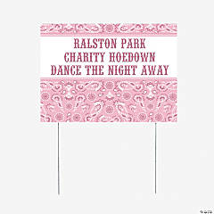 Personalized Pink Wild West Yard Sign