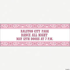 Personalized Pink Wild West Banner - Small
