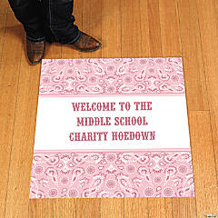 Personalized Pink Wild West Floor Cling