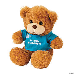 Personalized Winter Stuffed Bear