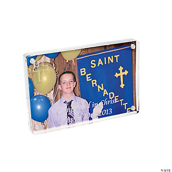 Personalized Photo Frame With Cross