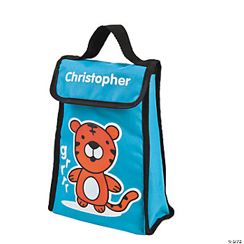 Personalized Tiger Lunch Bag