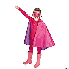 Personalized Girl's Superhero Cape & Mask