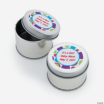 Personalized Bubble Bop Tins