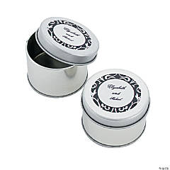 Personalized Classic Black & White Tins
