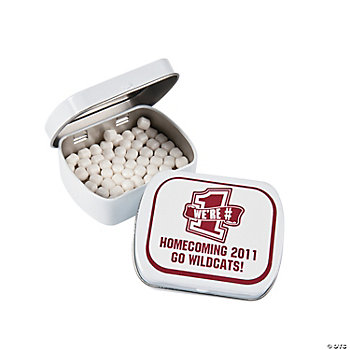 Personalized School Spirit Burgundy Mint Tins