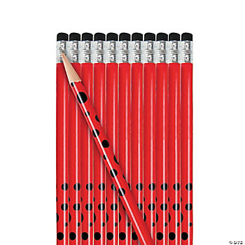 Personalized Red Pencils