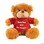 Personalized Plush Bear With Red T-Shirt