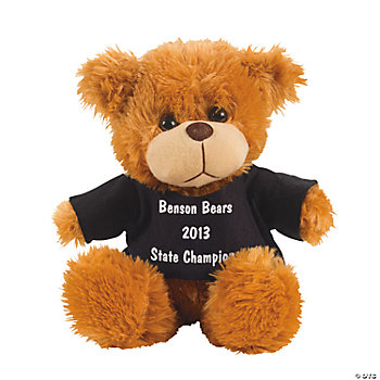Personalized Plush Bear With Black T-Shirt