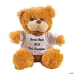 Personalized Plush Bear with White T-Shirt