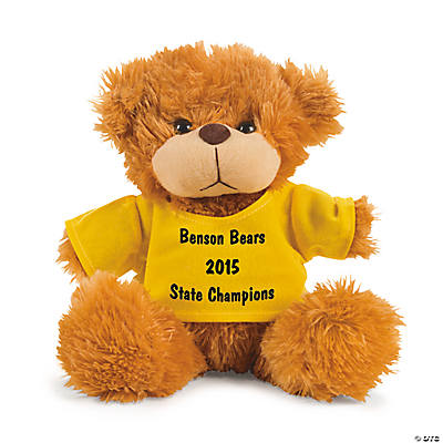 Personalized Plush Bear with Yellow T-Shirt