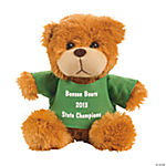 Personalized Plush Bear with Green T-Shirt