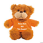 Personalized Plush Bear With Orange T-Shirt