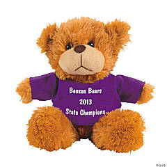 Personalized Plush Bear With Purple T-Shirt