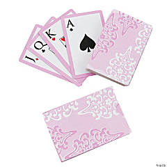 Cherry Blossom Wedding Playing Card Stickers