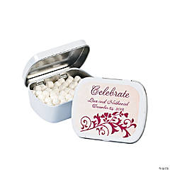 Personalized Red On Red Wedding Mint Tins