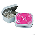Personalized Hot Pink Monogram Mint Tins