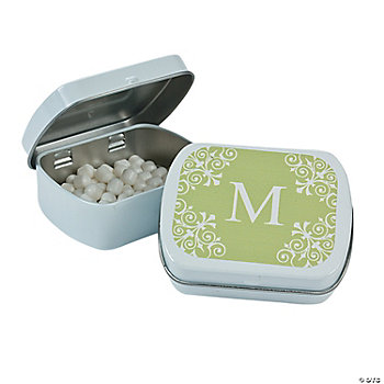 Personalized Lime Green Monogram Mint Tins
