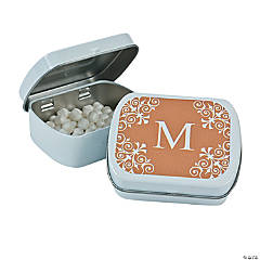 Personalized Gold Monogram Mint Tins