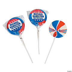 Personalized Patriotic Swirl Pops