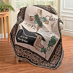 "Personalized ""Class Of 2012"" Religious Graduation Throw"