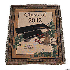 "Personalized ""Class Of 2012"" Graduation Throw"