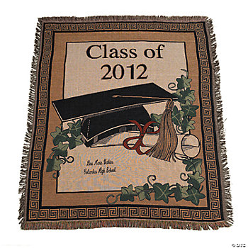 Personalized class of 2012 graduation throw oriental trading