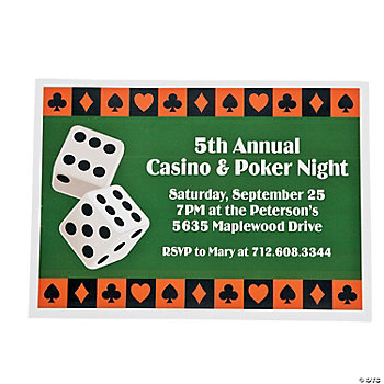 Personalized Casino Invitations