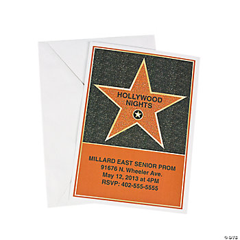Personalized Hollywood Star Invitations