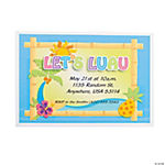 Personalized Luau Invitations
