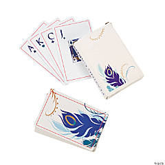 Personalized Peacock Wedding Playing Cards