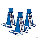 Personalized Blue Team Spirit Megaphone Necklaces