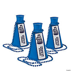 Blue Team Spirit Personalized Megaphone Necklaces