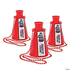 Red Team Spirit Personalized Megaphone Necklaces