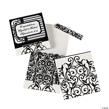 Personalized Black & White Matchbook Emery Boards