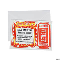Personalized Carnival Invitations
