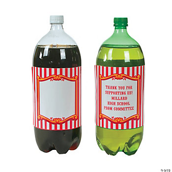 Personalized Carnival 2-Liter Drink Bottle Labels
