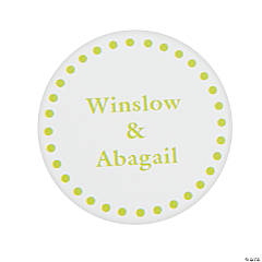 Lime Green Personalized Mix & Match Favor Stickers