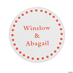 Orange Personalized Mix & Match Favor Stickers