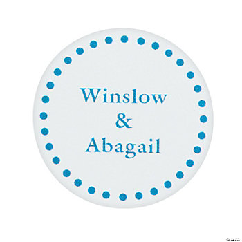 Blue Personalized Mix & Match Favor Stickers