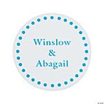 Teal Personalized Mix & Match Favor Stickers