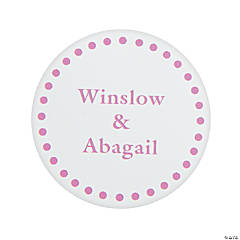 Pink Personalized Mix & Match Favor Stickers