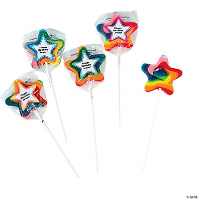 Personalized Star-Shaped Swirl Pops