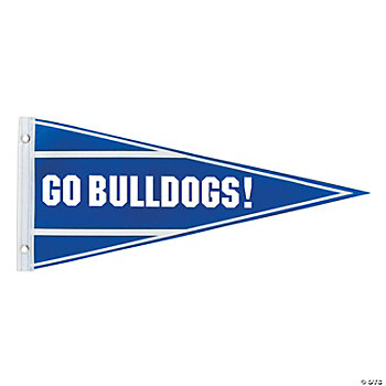 Personalized Blue Pennant Banner
