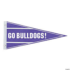 Personalized Purple Pennant Banner