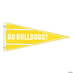 Yellow Personalized Pennant Banner