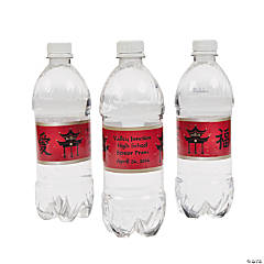 Personalized Asian Water Bottle Labels