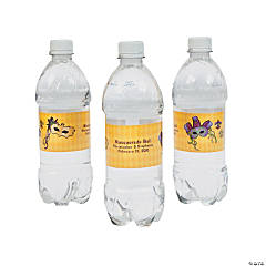 Personalized Masquerade Water Bottle Labels